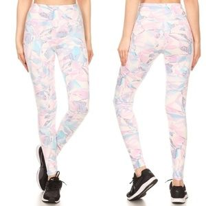 Tummy Control Geo Print Leggings Athleisure